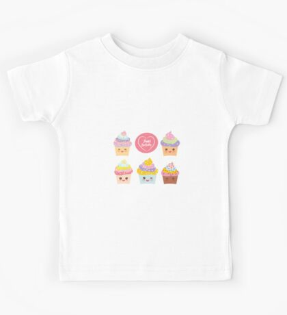 Yummy cupcakes bithday Kids Tee