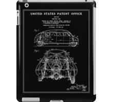 Motor Car Patent - Black iPad Case/Skin