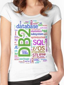 database engines languages cloud programming Women's Fitted Scoop T-Shirt