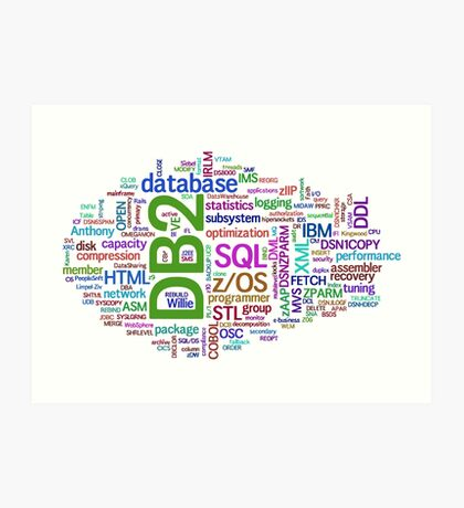 database engines languages cloud programming Art Print