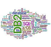database engines languages cloud programming Photographic Print