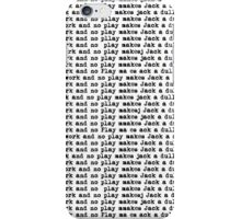 all work and no play makes jack a dull boy iPhone Case/Skin