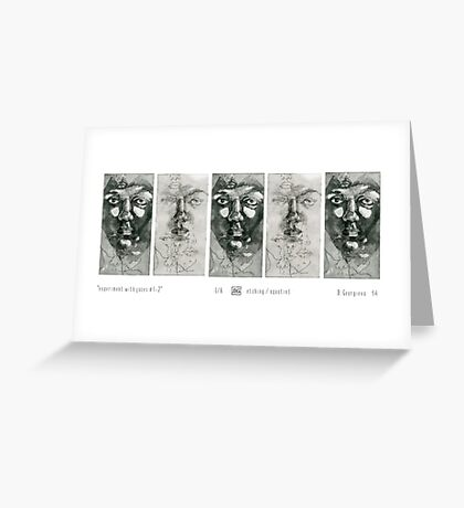 Experiment with faces #1-2 Greeting Card