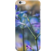 Blue flower wall decoration. Agapanthus iPhone Case/Skin
