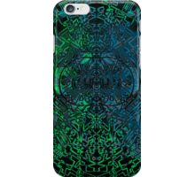Green and Blue scatter symmetry  iPhone Case/Skin