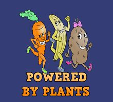 POWERED BY PLANTS!!  PLANT BASED DIET Women's Fitted V-Neck T-Shirt