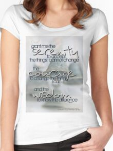 Serenity Prayer with Bells © Vicki Ferrari Women's Fitted Scoop T-Shirt