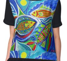 Fish for fun - bigger file Chiffon Top