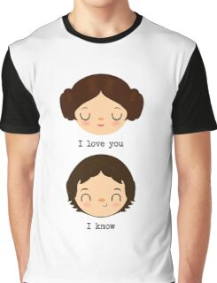 "Leia and Han Solo ""I love you"" ""I know"" - Star Wars Graphic T-Shirt"