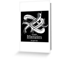 Clan Menzies  Greeting Card