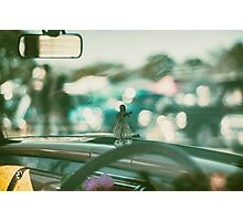 Hula doll on the dashboard Photographic Print