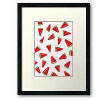 Watercolour Watermelon Framed Print