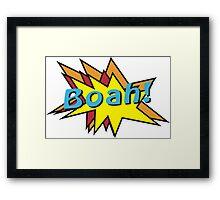 Boah comic Framed Print