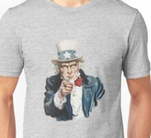 """I Want You""-Uncle Sam,U.S.Army, Vintage Dictionary Art Unisex T-Shirt"