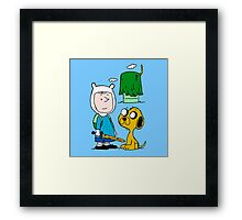 Peanuts Time Framed Print