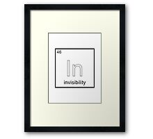 The Element of Invisibility Framed Print