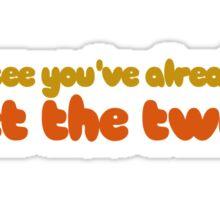 Funny Boobs Humor Sticker