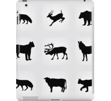 animals icons,vector illustration iPad Case/Skin