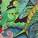 Fish abstract  by Karin Zeller