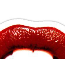 Red Lips always lie. Sticker