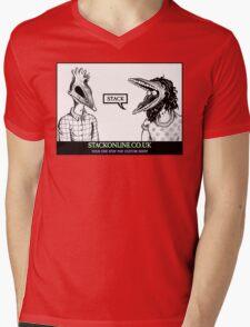 STACK Beetlejuice Logo Mens V-Neck T-Shirt