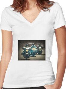 The three Harley Davidsons Women's Fitted V-Neck T-Shirt