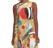 Watercolor Dessert A-Line Dress