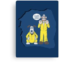 BREAKING BAD & WALLACE AND GROMIT MASHUP Canvas Print