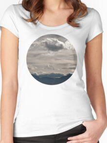 Clouds rolling over Women's Fitted Scoop T-Shirt