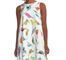 The Birds A-Line Dress