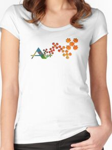 The Name Game - The Letter A Women's Fitted Scoop T-Shirt