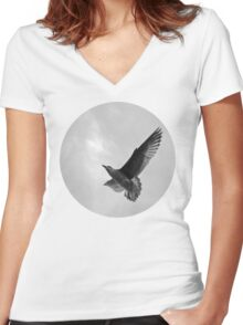 A Seagull Women's Fitted V-Neck T-Shirt