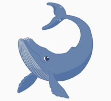 Cute Blue Whale Baby Tee
