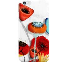 Ranunculus Poppies Anemone Bouquet iPhone Case/Skin
