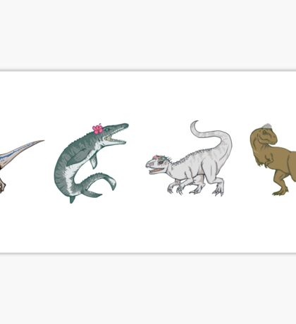 Jurassic Girls - All 4 Sticker