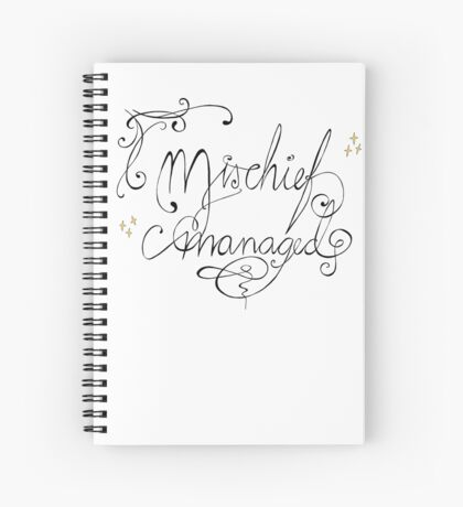 Mischief managed Spiral Notebook