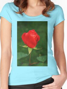 A Rose for my Love Women's Fitted Scoop T-Shirt