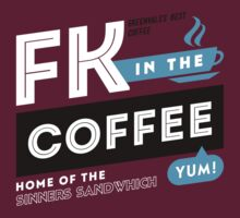 Deadly Premonition - FK In The Coffee Official Tee (White / Blue) T-Shirt