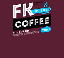 Deadly Premonition - FK In The Coffee Official Tee (White / Blue) Unisex T-Shirt