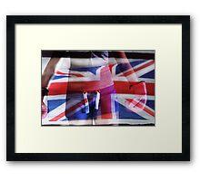 UNION JACK BRITISH FLAG  Framed Print