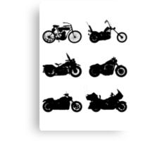 History of Harley Davidson Canvas Print