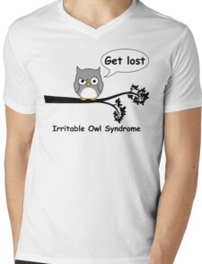 Irritable Owl syndrome Mens V-Neck T-Shirt