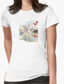 Lolly shop Candy Store Womens Fitted T-Shirt