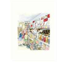 Lolly shop Candy Store Sweet shop Art Print