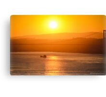 Sunset at Bosphorus Canvas Print