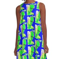 Alien Invasion from another galaxy A-Line Dress