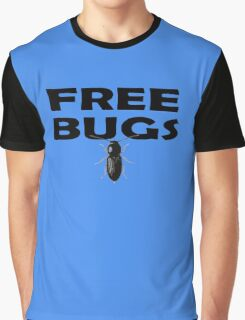 Bugs T-Shirt Insect Stickers Fun Free Hugs Comedy Tee Graphic T-Shirt