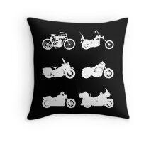 History of Harley Davidson Throw Pillow