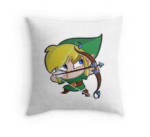 Chibi Link Bow Throw Pillow