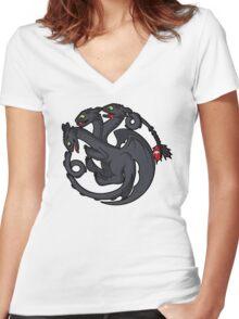 Toothless Targaryen Women's Fitted V-Neck T-Shirt